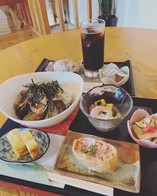 8月真盛堂カフェ甘味茶蔵ランチ