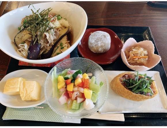 真盛堂和カフェ甘味茶蔵8月ランチ